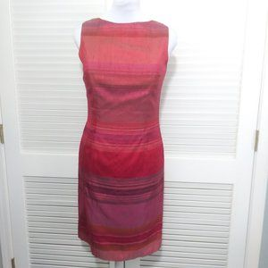 Muse Ombre 100% Silk Open Tie Back Sheath Dress